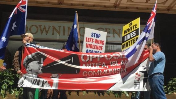 Right wing extremists at the Downing Centre