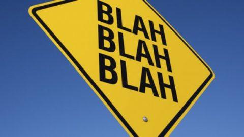 Blah street sign