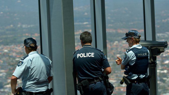 Australian Federal Police in a skypoint