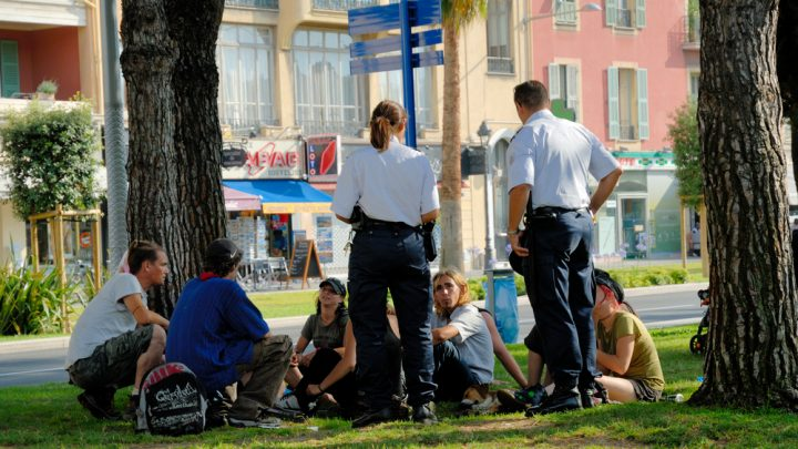 Police search young people