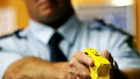 Police using a taser