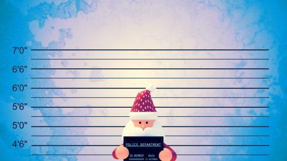 Santa at police identification window