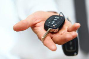 Giving car key