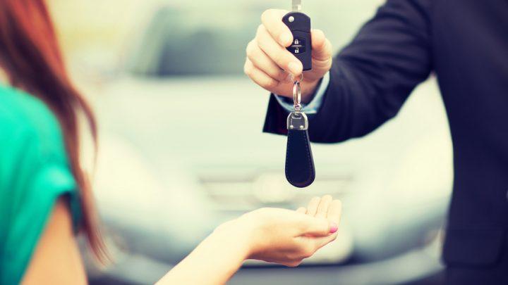 Traffic lawyer giving back client her car keys