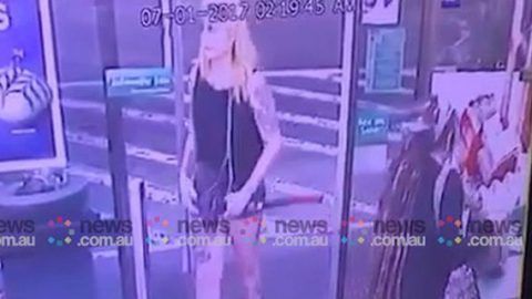 CCTV footage of axe attack