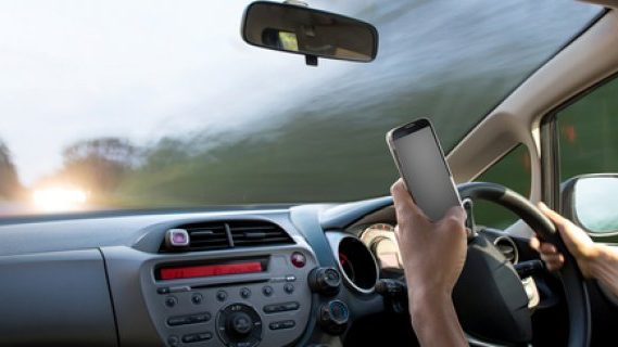 Using mobile phone and driving