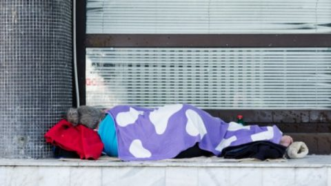 Homeless struggle
