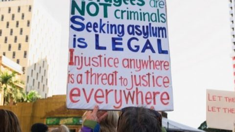 Refugees protest on seeking asylum is legal