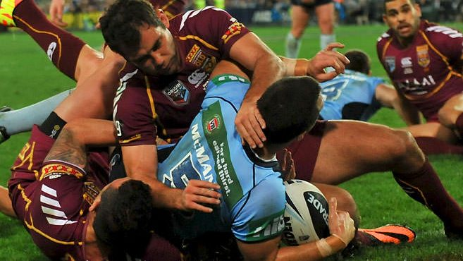 James McManus try at the State of Origin