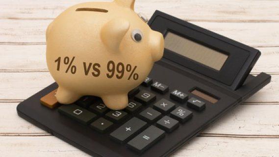 Piggie bank calculations of 1% vs 99%