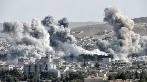 Bombs and war in Syria