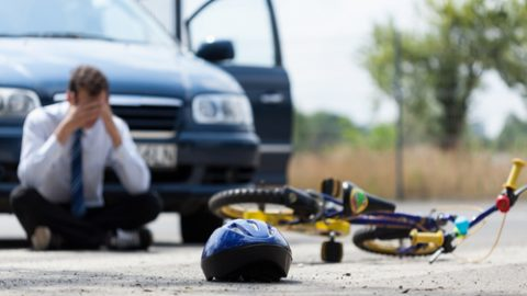 Dangerous driver hit a bike