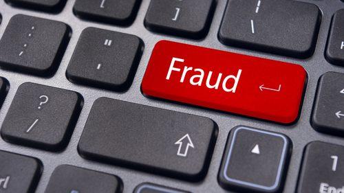 Fraud key on keyboard