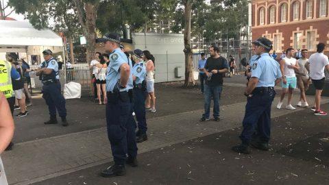 Police supervising festival