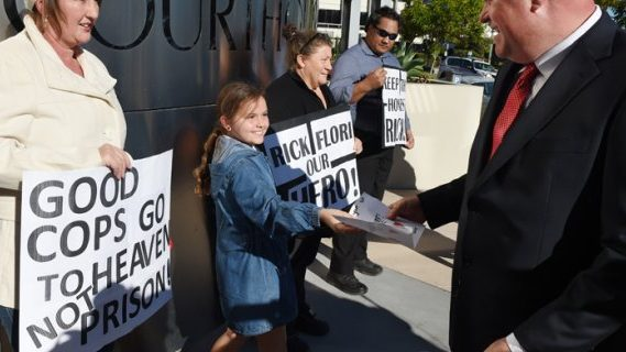 Gold Coast policeman Rick Flori goes to court