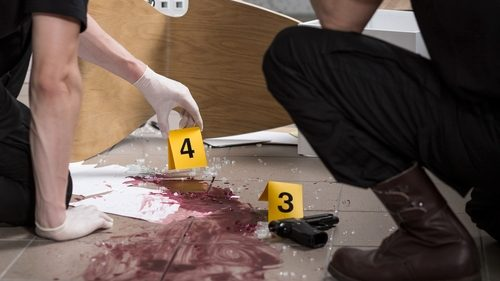 Bloody crime scene