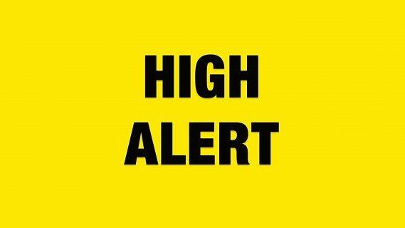 High Alert sign