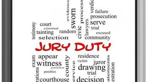 Jury duty labels