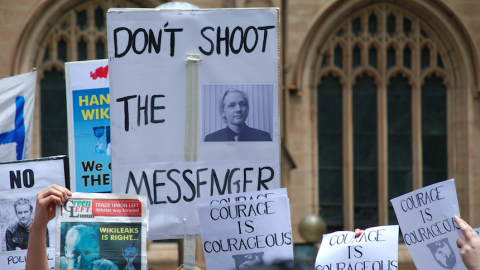 Protest Julian Assange