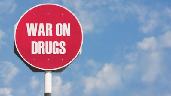 War on drugs stop sign