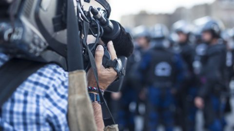 Filming police