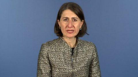 Gladys Berejiklian makes a speech