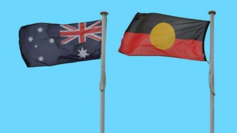 Australian and Aboriginal flag poles