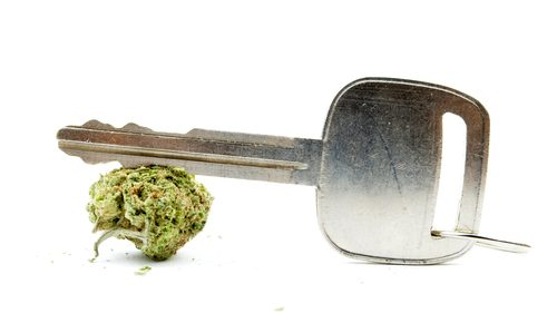 Car key and cannabis