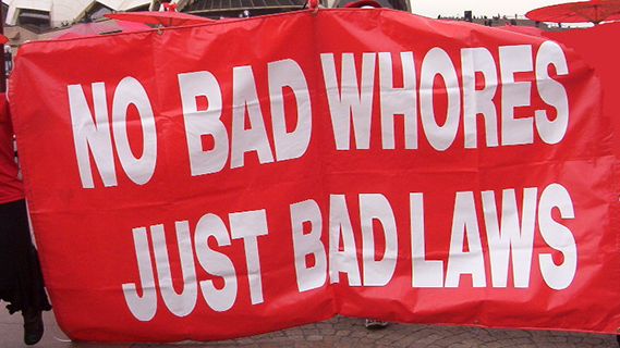 No bad whores just bad laws protest