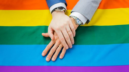 Same sex marriage flag
