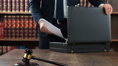 Lawyer with briefcase