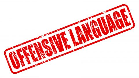 Offensive language red stamp