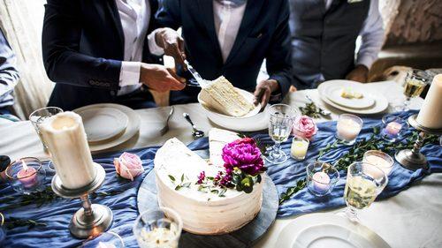 Wedding cake of gay couple
