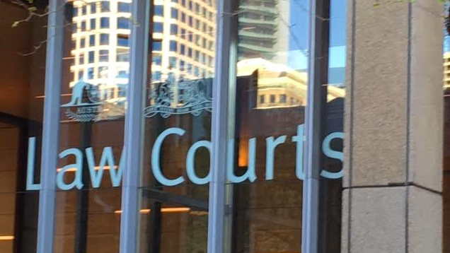 Law Courts building sign