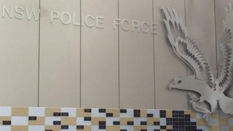 NSW Police logo on wall