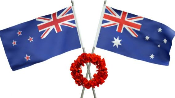Australia and New Zealand ANZAC flags