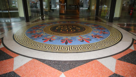 Downing Centre Court floor