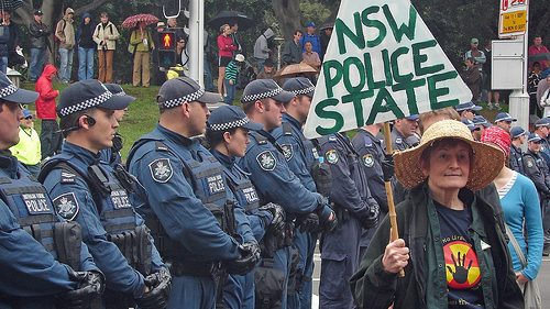 NSW police state protest