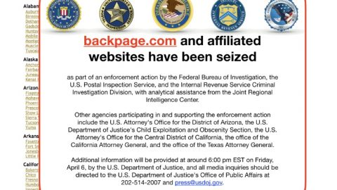 Backpage website