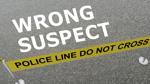 Wrong suspect poster