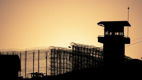 Prison at dusk