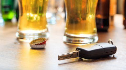 Car key on bar