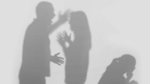 Domestic violence silhouette