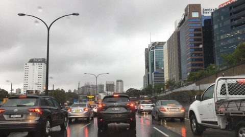 Photo of Sydney's traffic in the rain