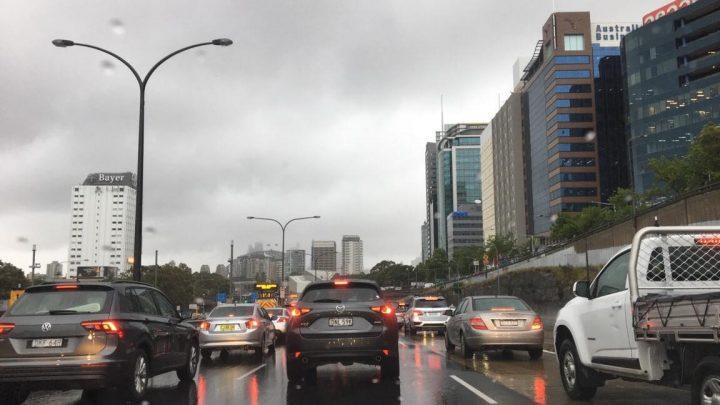 Photo of Sydney's traffic in the rain