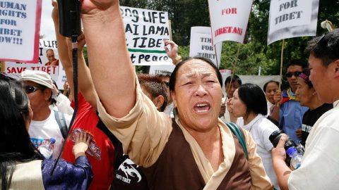 Tibet protest