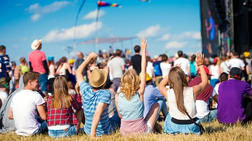 People at a festival