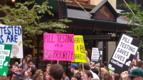 Sydney Rallies for pill testing