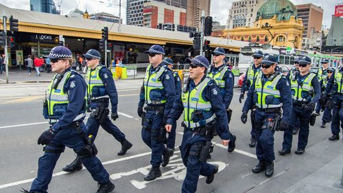 Victoria Police marching