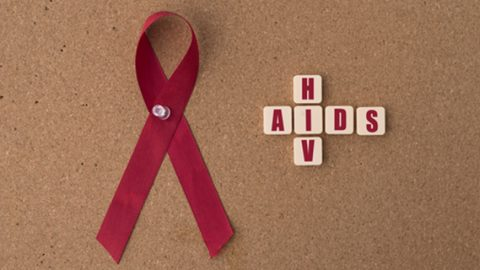 Ribbon for HIV and Aids